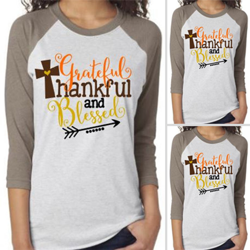 Grateful/Thankful Raglan Tee