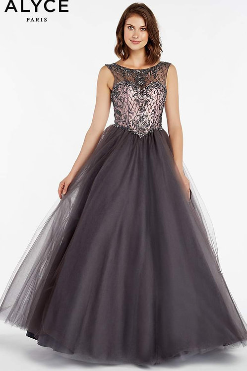 Alyce Smoke & Rose Ball Gown