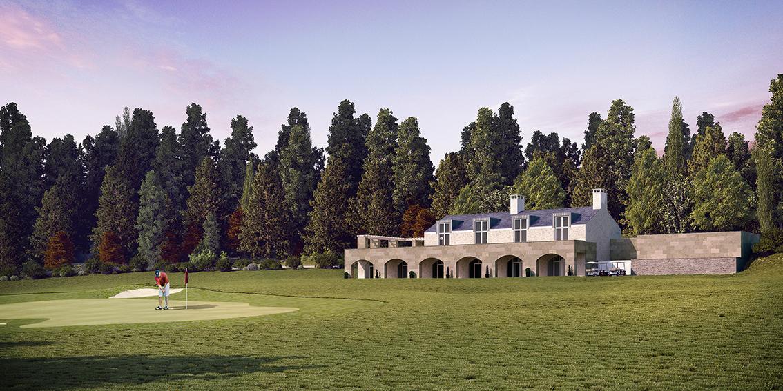 Golf club house & terraced restaurant