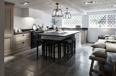 Neptune Henley Kitchen painted partly in Snow