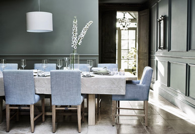 Arundel Dining Table, Shoreditch Dining Chairs