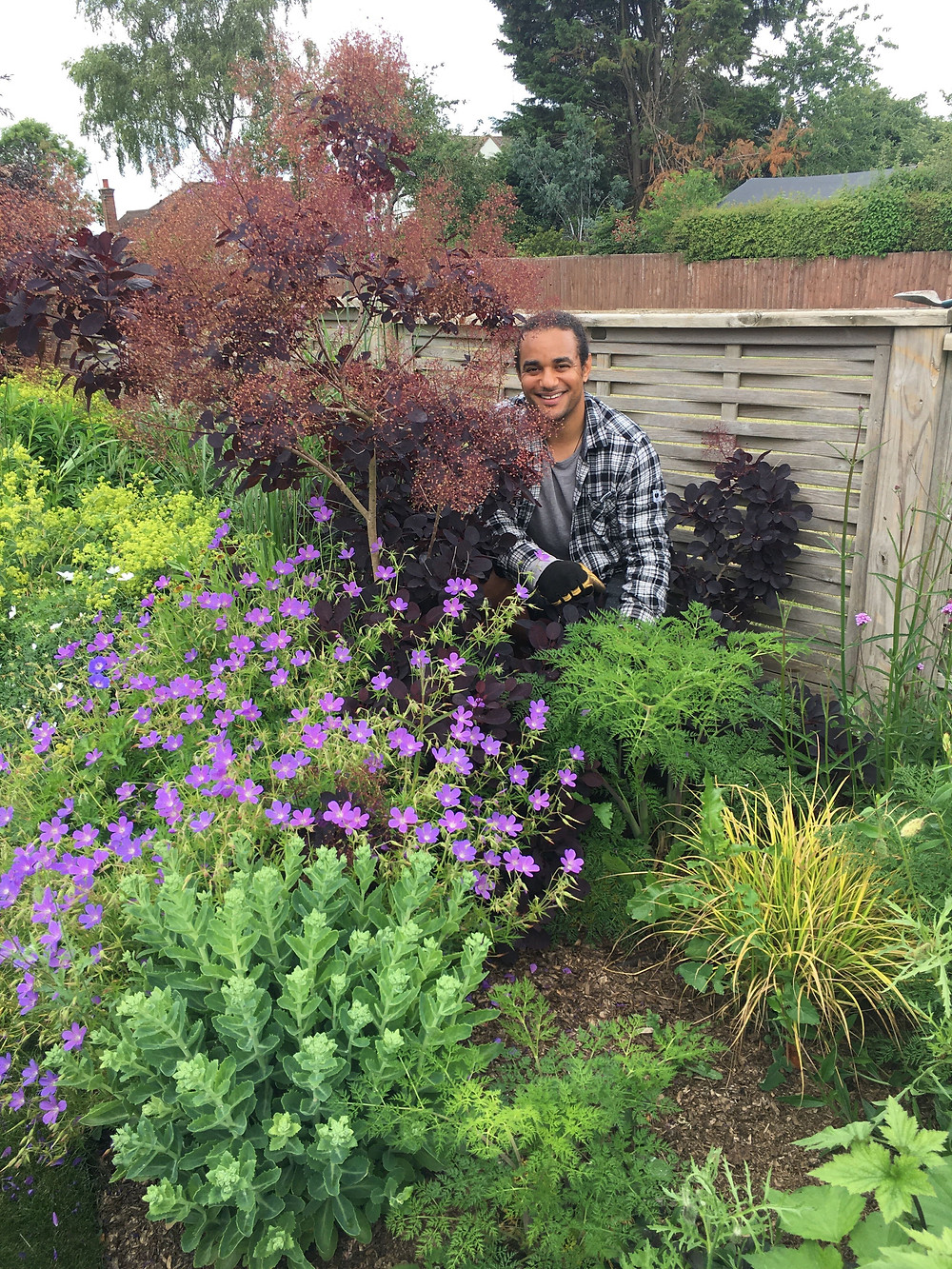 Joshua Allen, Liberty's Growing and Relationship Manager and horticultural expert, amongst some things he's grown: shrubbery, flowers, crops.