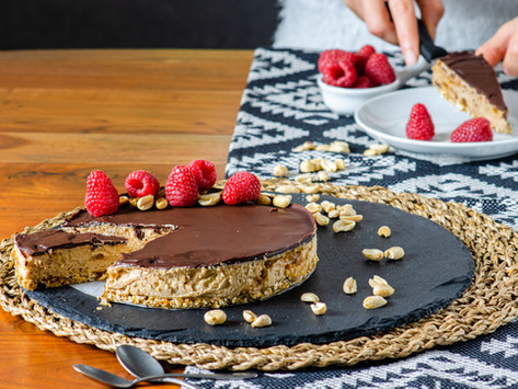 Snickers-Inspired Raw Cake