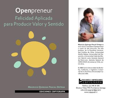 Book: Openpreneur, Felicidad Aplicada para Generar Valor y Sentido