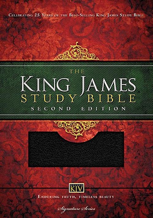 KJV King James Study Bible (Second Edition)-Black Bonded Leather