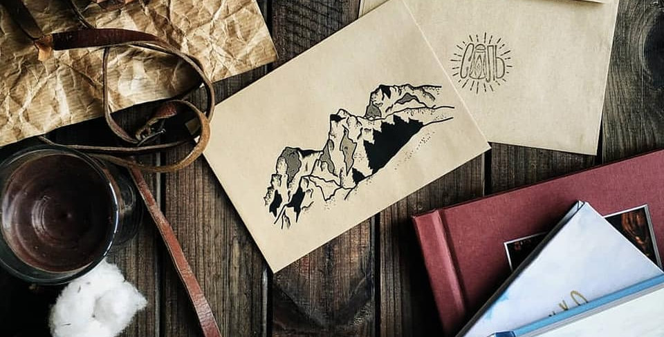 Крафтовий конверт принт К1»