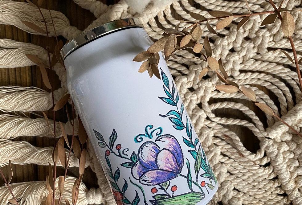 термочашка з трубочкою «квіти»