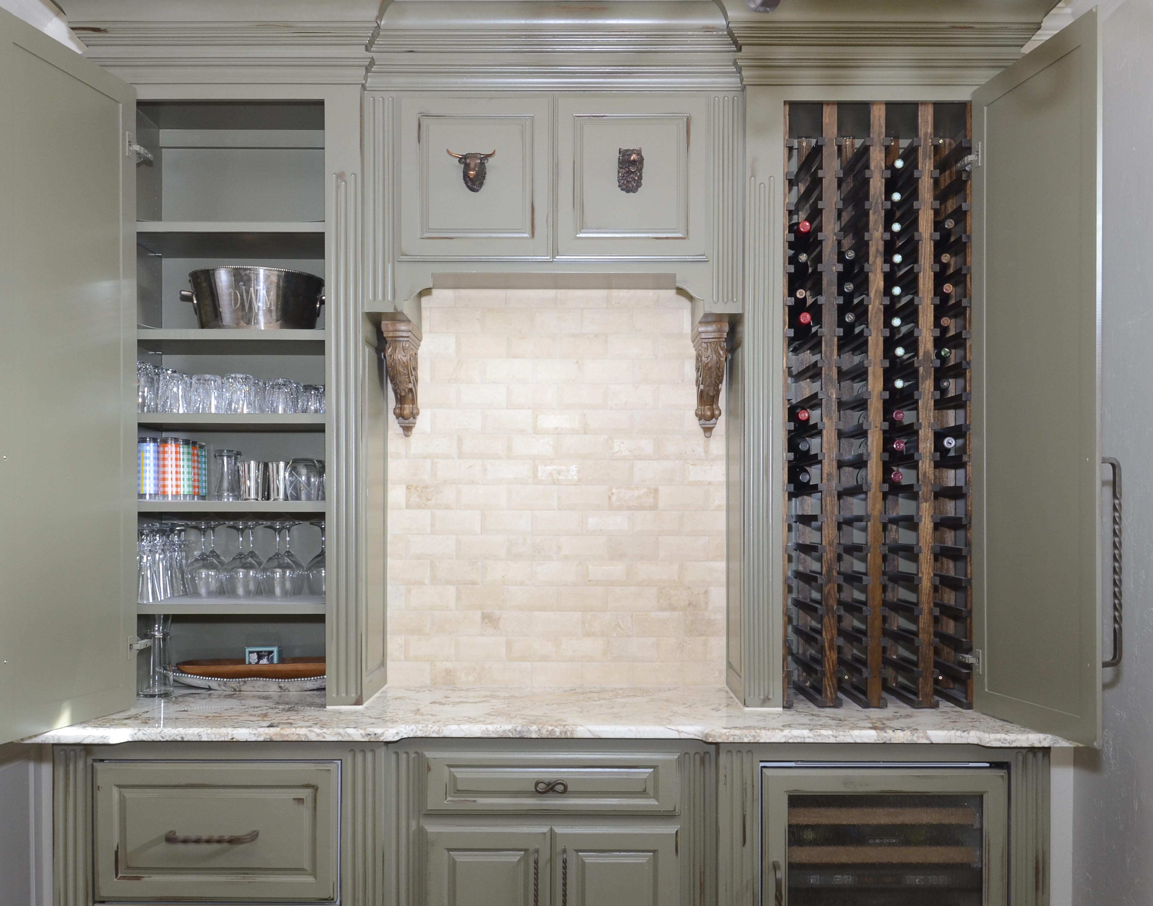 Wine Cabinet Open