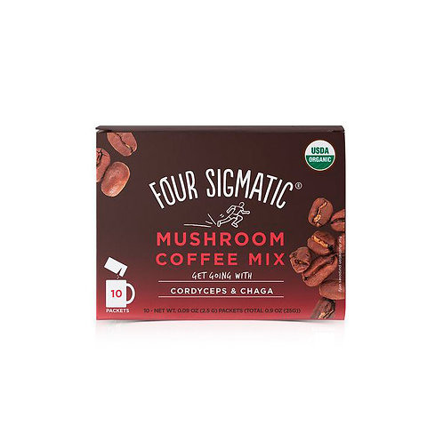 FOUR SIGMATIC Mushroom Coffee Mix Packets With Cordyceps