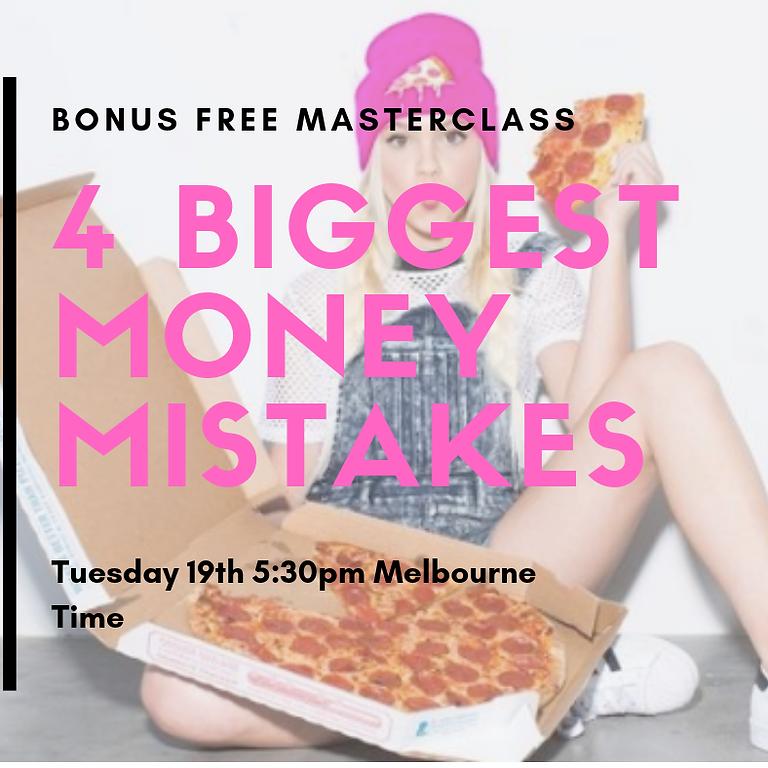 4 Biggest Money Mistakes