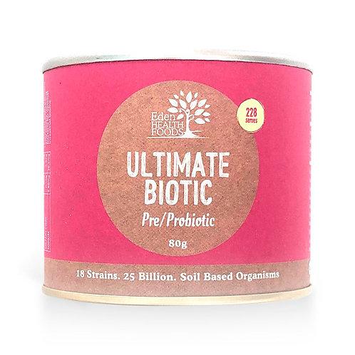 EDEN HEALTHFOODS Ultimate Biotic Pre/Probiotic 25 Billion Friendly Bacteria 80g