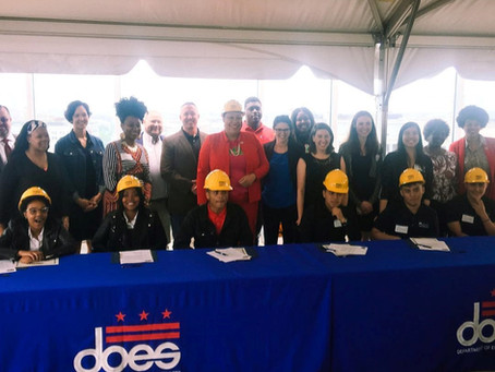 Signing Day for Construction Pathways Graduates