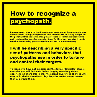 Unilalia, psychopathy