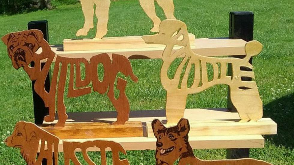 Medium Size Breed wood dog figures