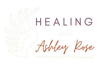 Healing with Ashley Rose Logo - White Wi