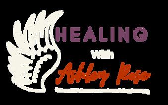 Healing with Ashley Rose Logo - White Wi