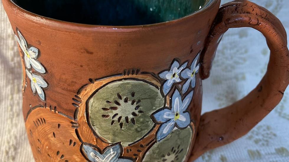 Mug with Kiwi & Forget-me-knots