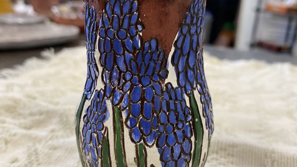 Vase with Grape Hyacinth
