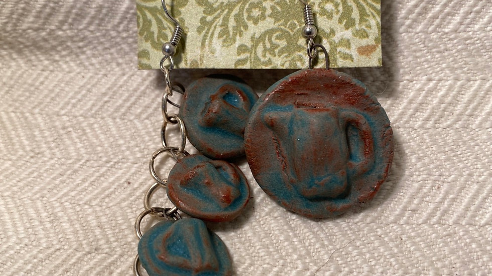 Earrings with Pitcher & Mugs