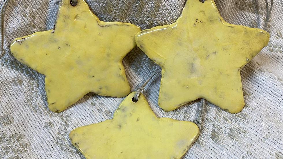 Yellow Star Ornament