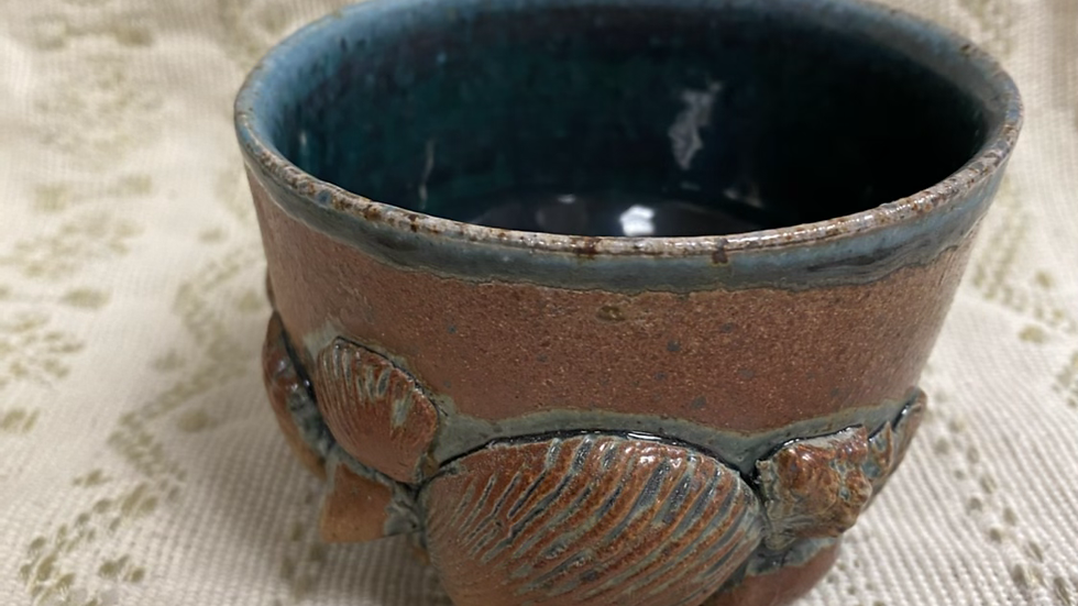 Soda Fired Cup with Shells