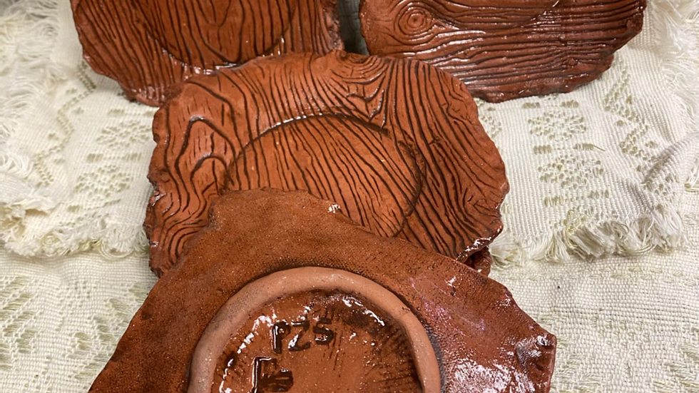 Wood Texture Appetizer Plate