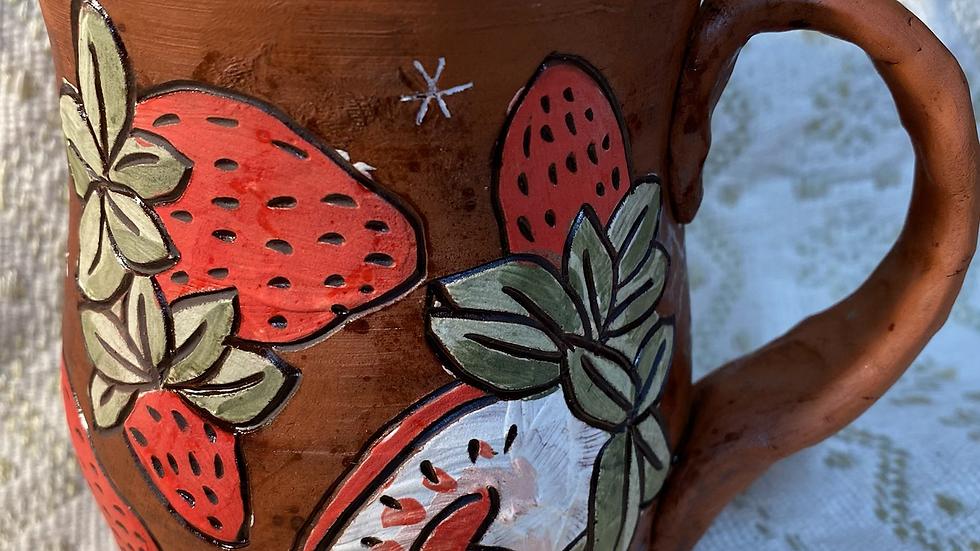 Mug with Strawberries