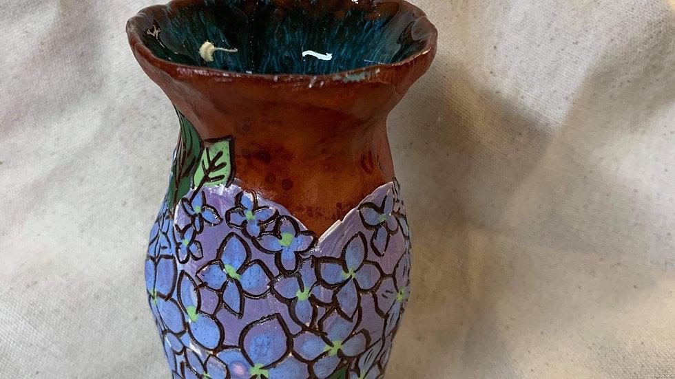 Small Vase with Hydrangeas
