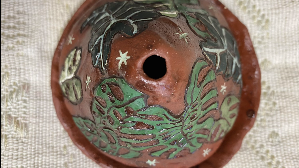 Small Cone Incense Burner with Mixed Tropicals