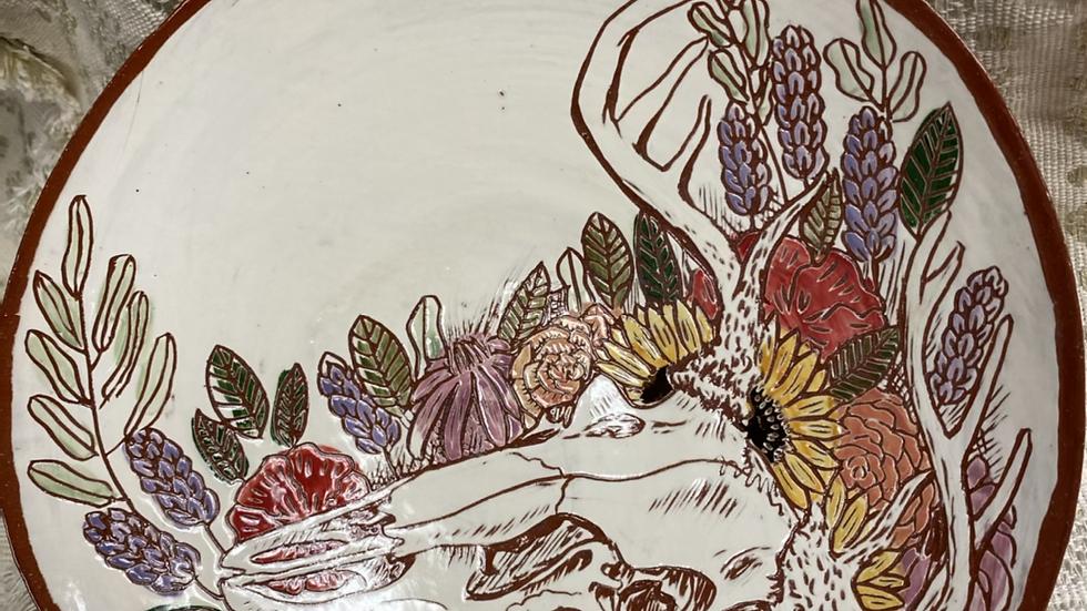 Bowl with Deer skull