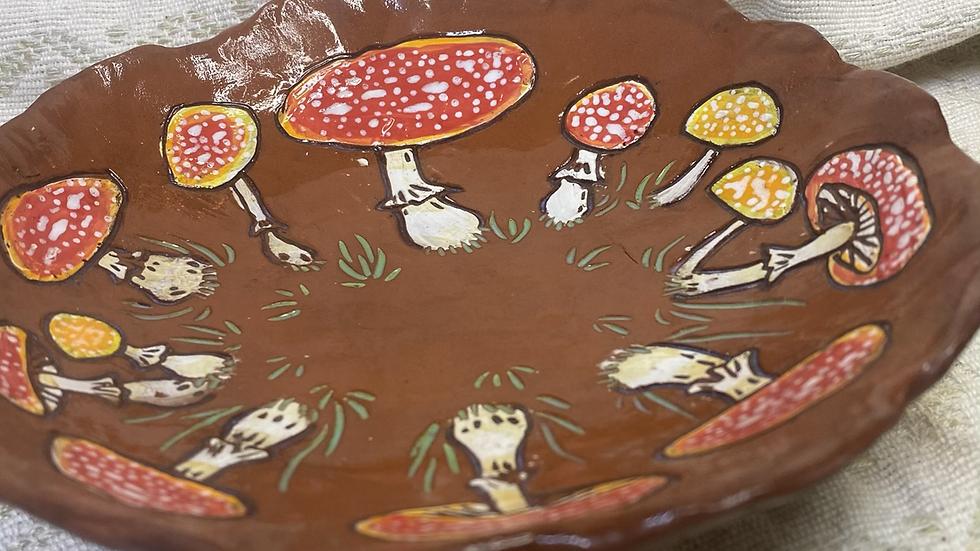 Bowl with Mushrooms