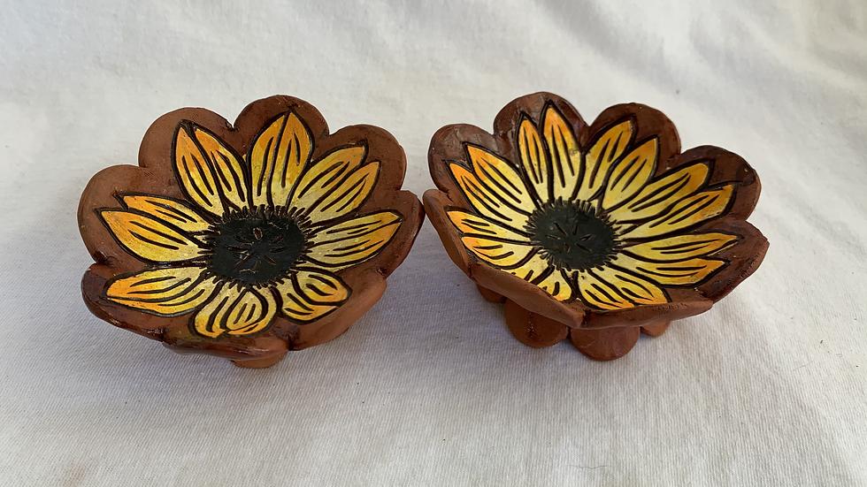 Ring Dish,Yellow Sunflower