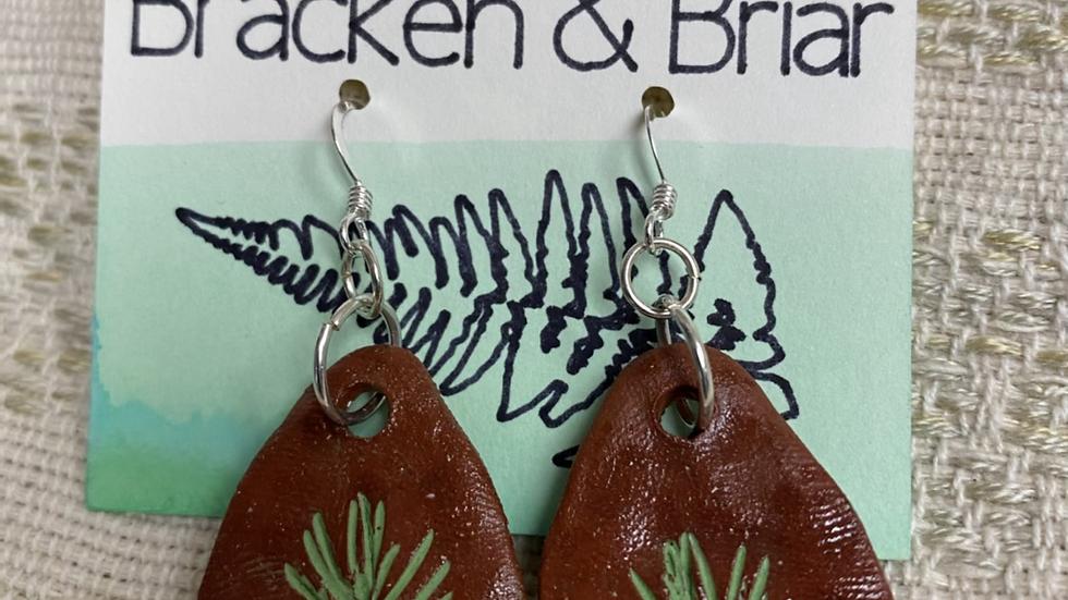 Earrings with Fir