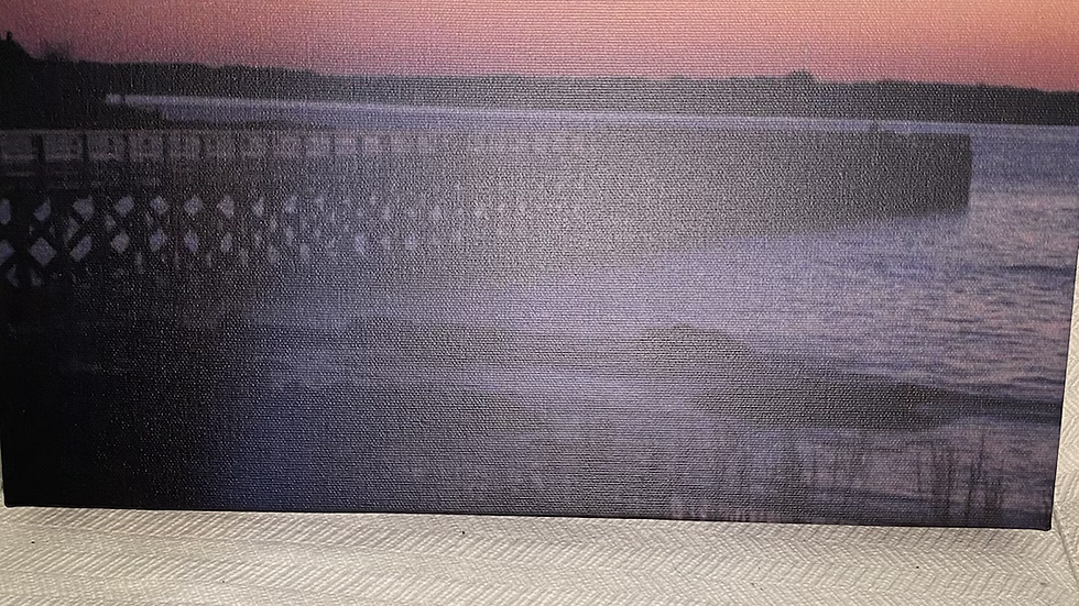 11x14 Canvas Fort Foster at Sunset