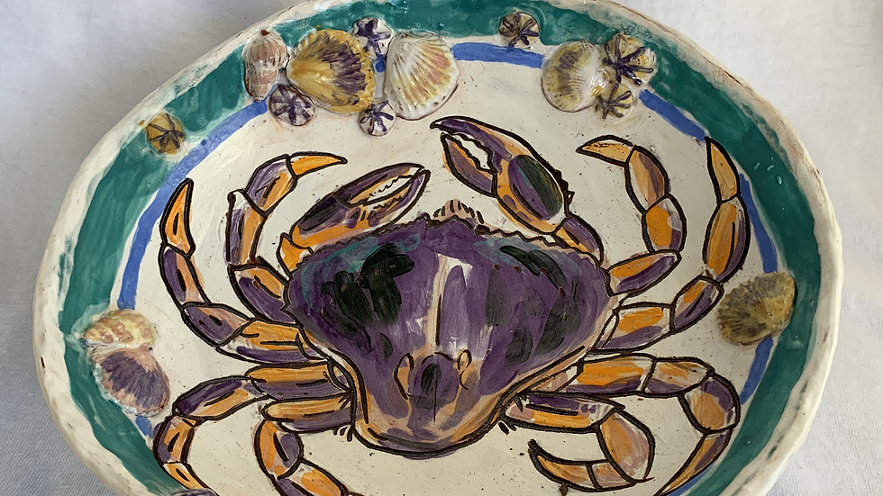 Bowl with Crab & Shells