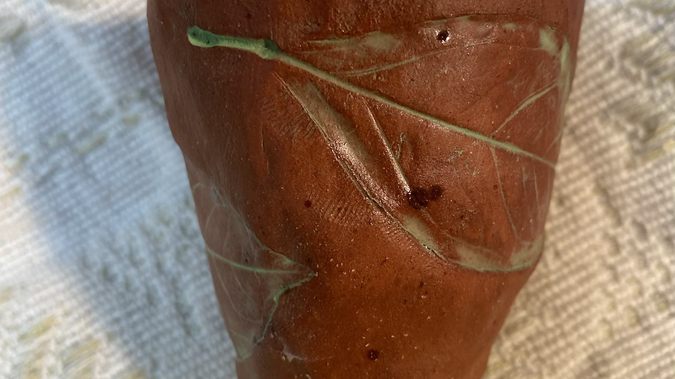 Shot glass Leaf Imprint