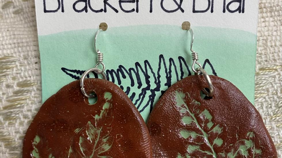 Fern Imprint Earrings