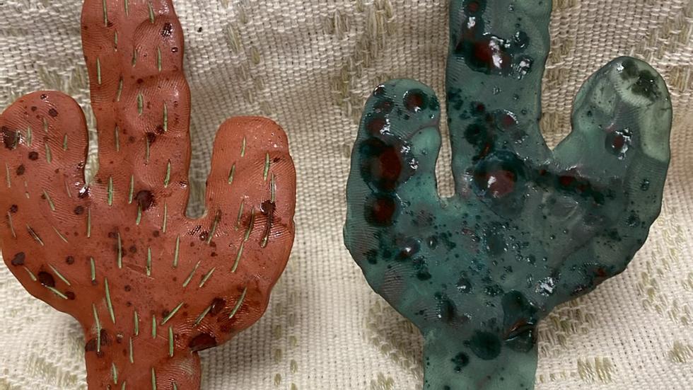Green Cactus Ornament