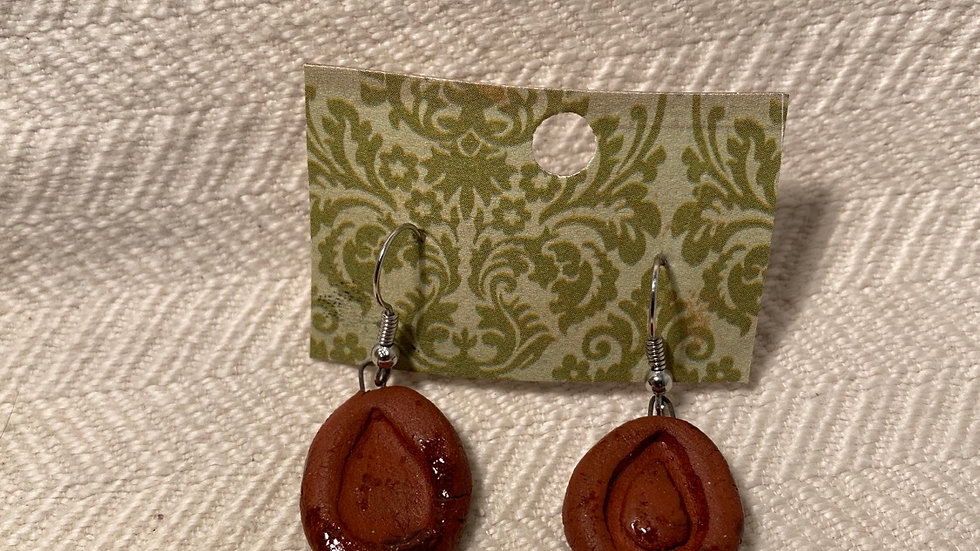 Earrings with Raindrops