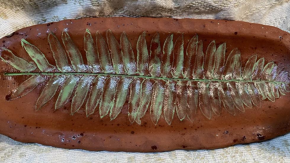 Tray with Fern Imprint