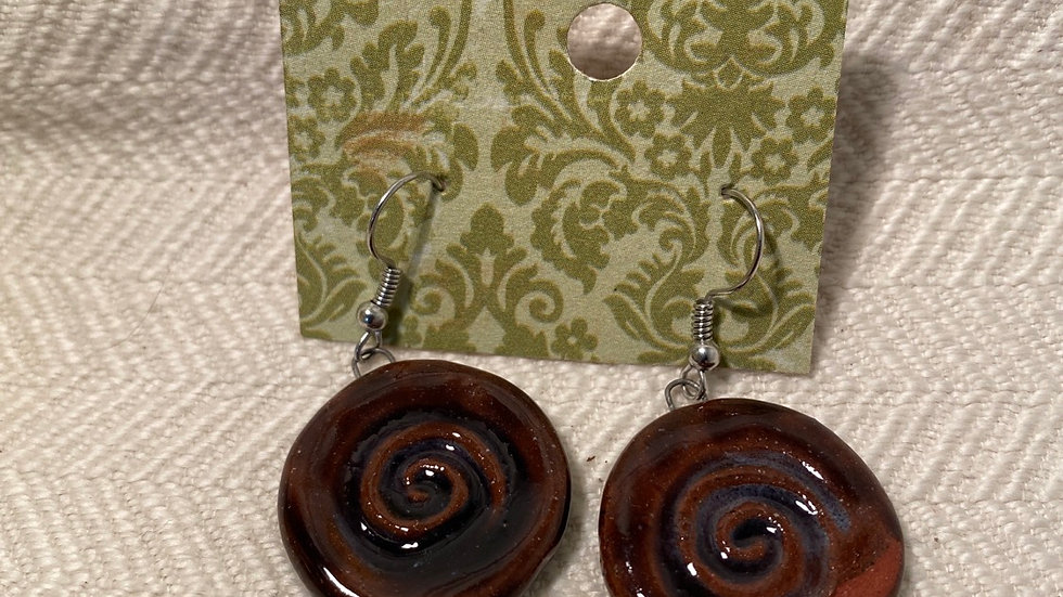 Earrings with Spiral