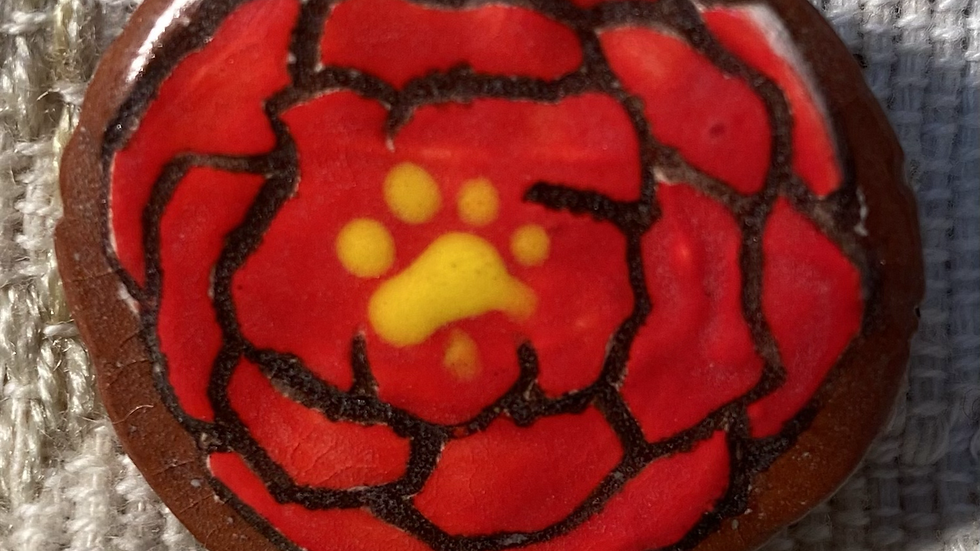 Pin with Red Flower