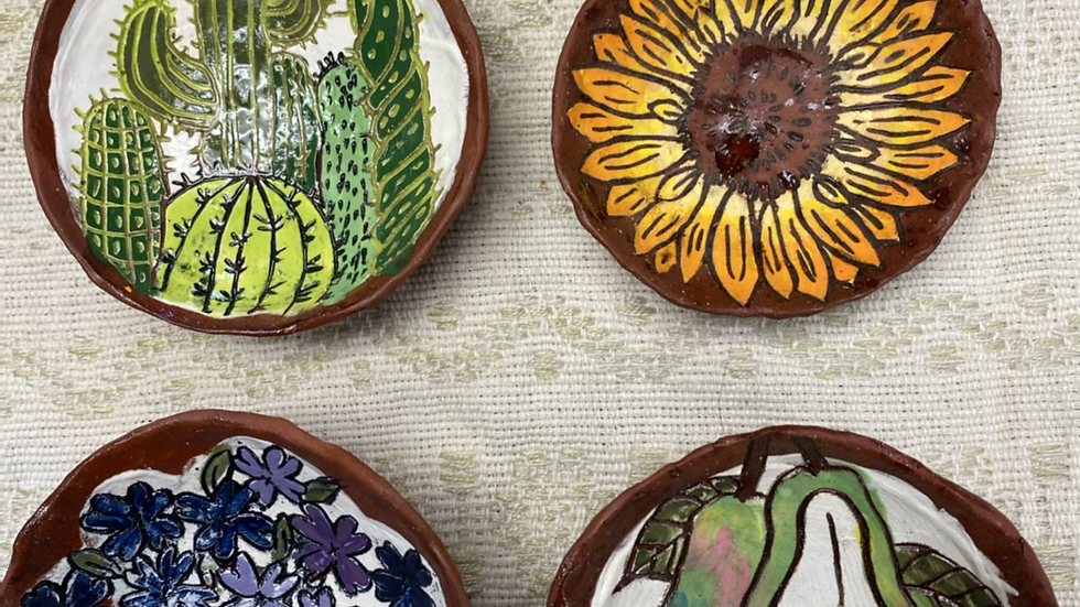 Ring Dish with Sunflower