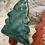 Thumbnail: Glazed Green Tree Ornament