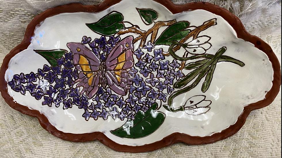 Tray with Lilacs