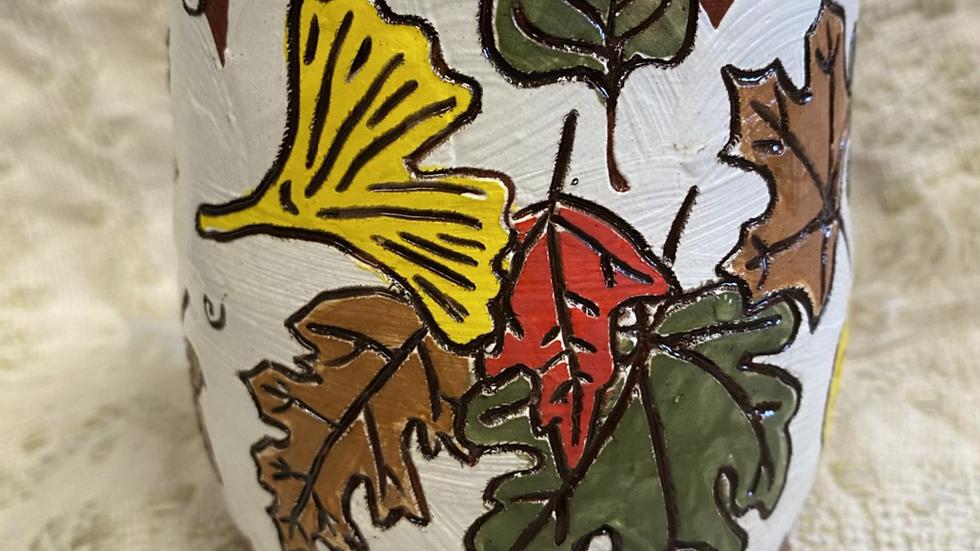 Mug with Autumn Leaves