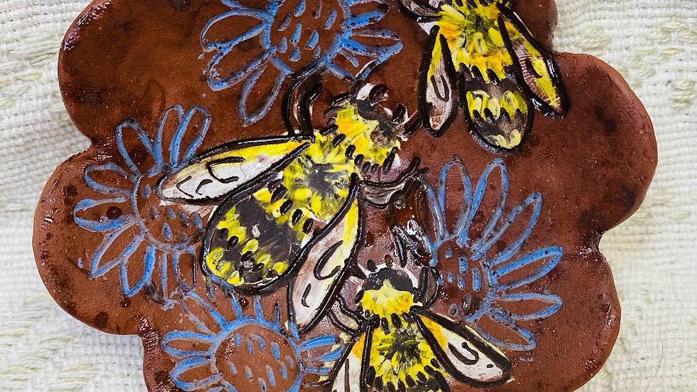 Ring Dish, Bees