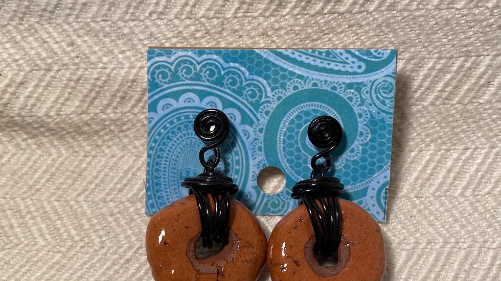 Earrings with Local Clay