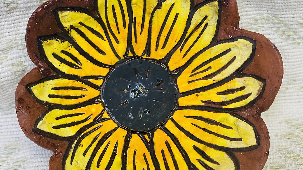 Ring Dish, Sunflower