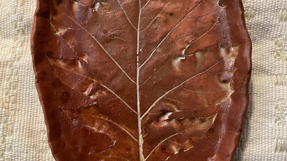 Tray with Oak Leaf